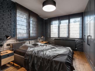 индустриален стил спалня